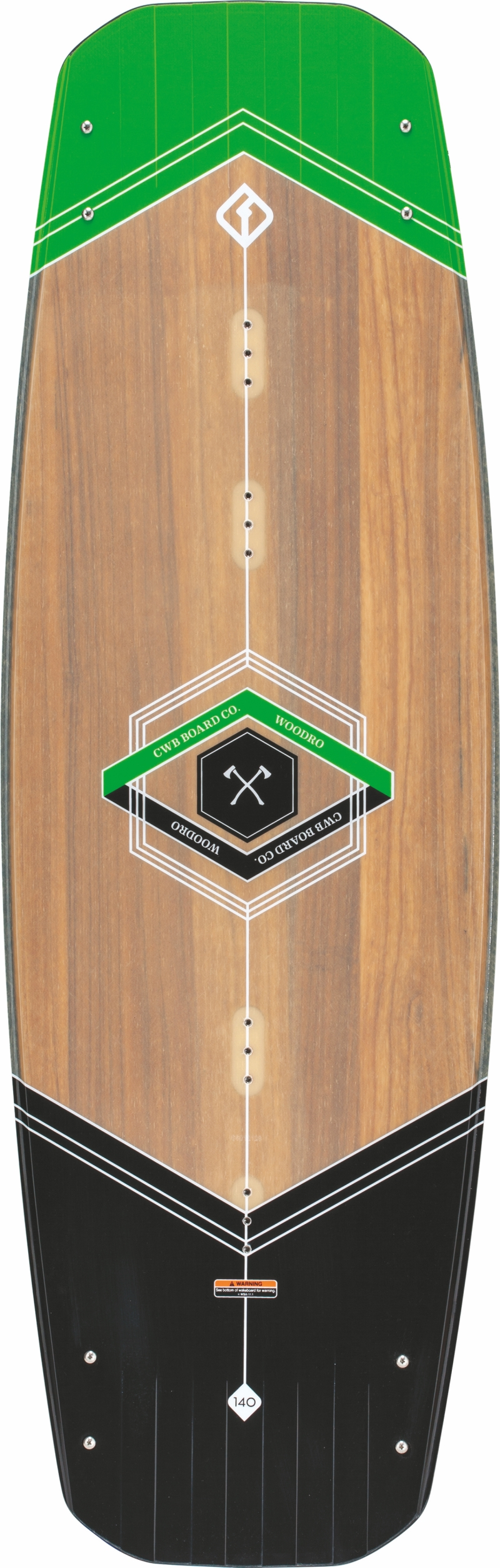 Вейкборд CWB WOODRO Wood-Black-Green