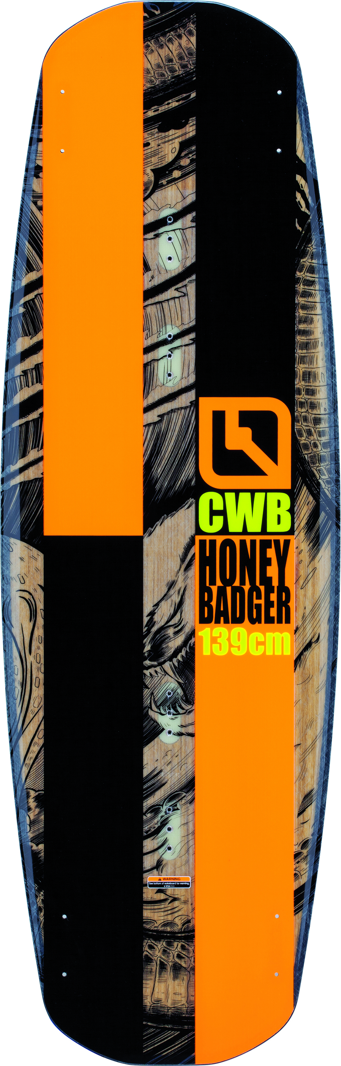 Вейкборд CWB мужской HONEYBADGER Black-Orange (BKO)