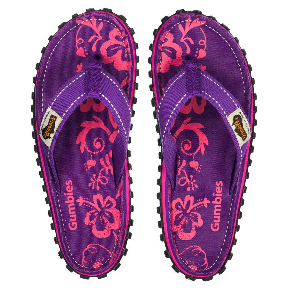 Шлепки женские Gumbies Flip Flop PURPLE HIBISCUS S18