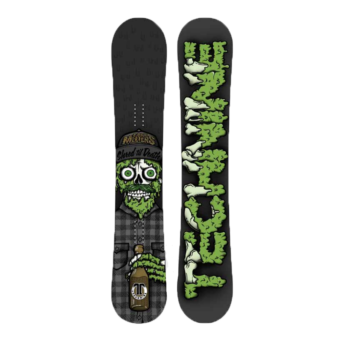 Сноуборд Technine S.T.D SHRED TIL DEATH BLACK F18